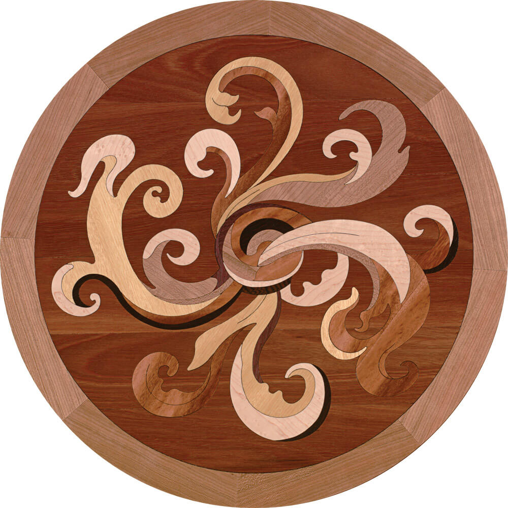 Compassion Wood Deco Medallion | Floor Medallion