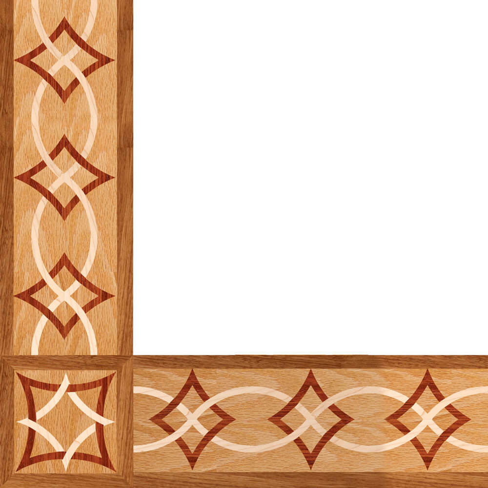 Arizona Wood Border & Corner | Floor Border & Corner