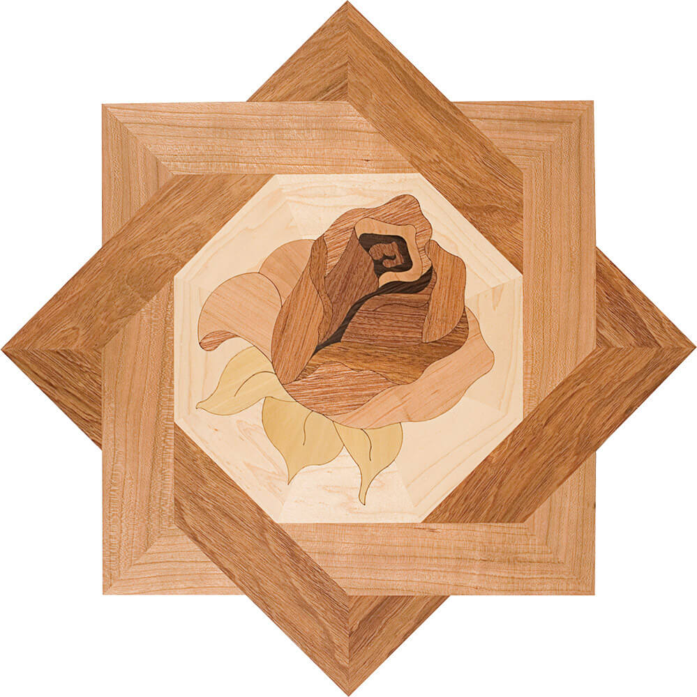 Bellarosa Star Wood Medallion Deco | Floor Medallion