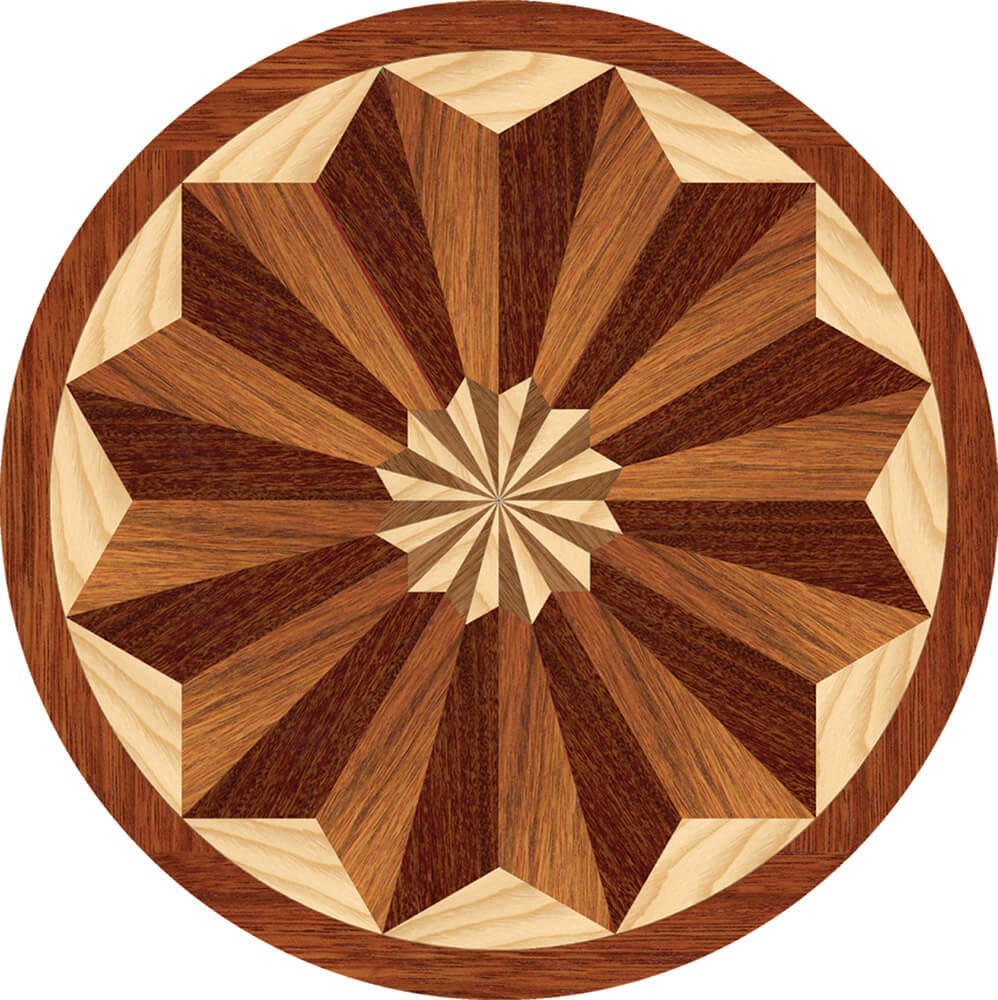Bellevue Wood Medallion | Floor Medallion