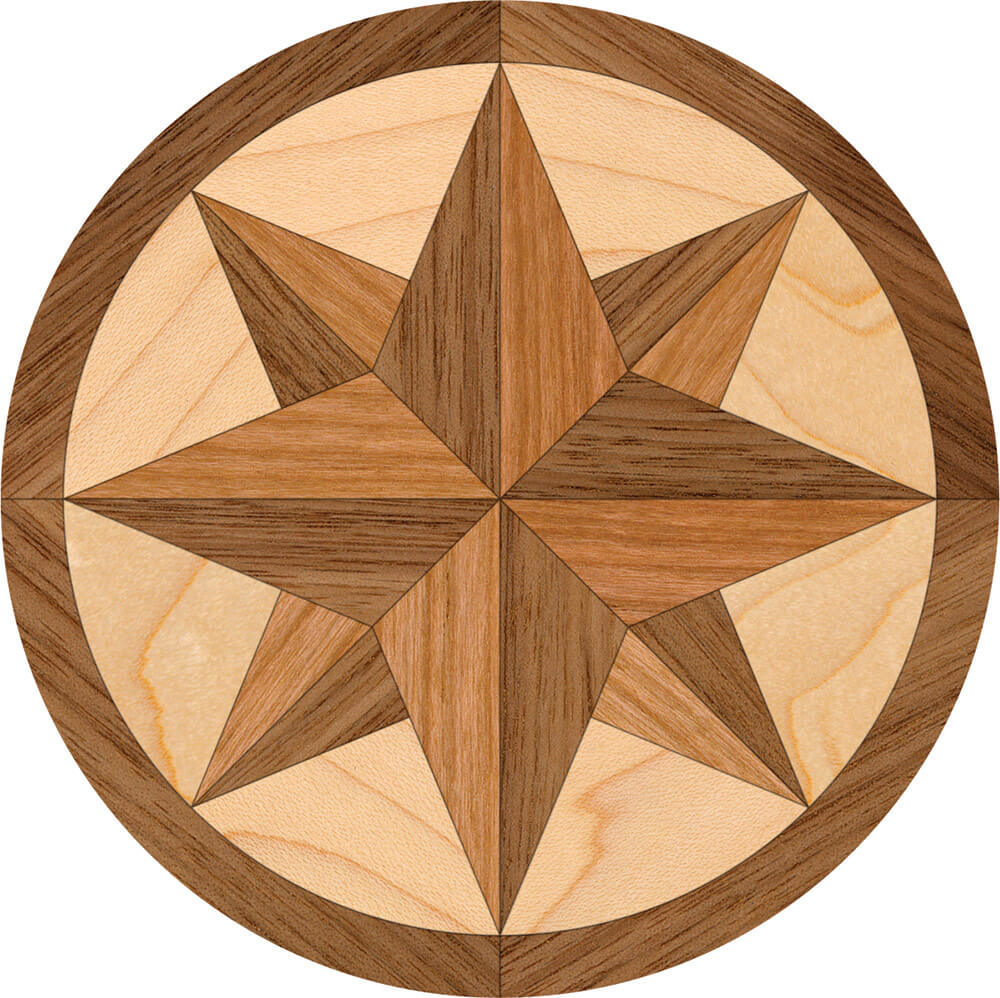 Brant Point Wood Focal Accent Medallion