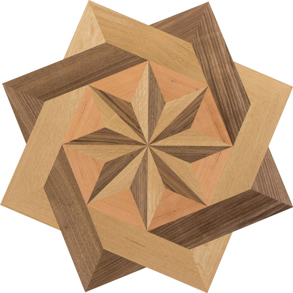 Brenton Cove Wood Medallion | Floor Medallion