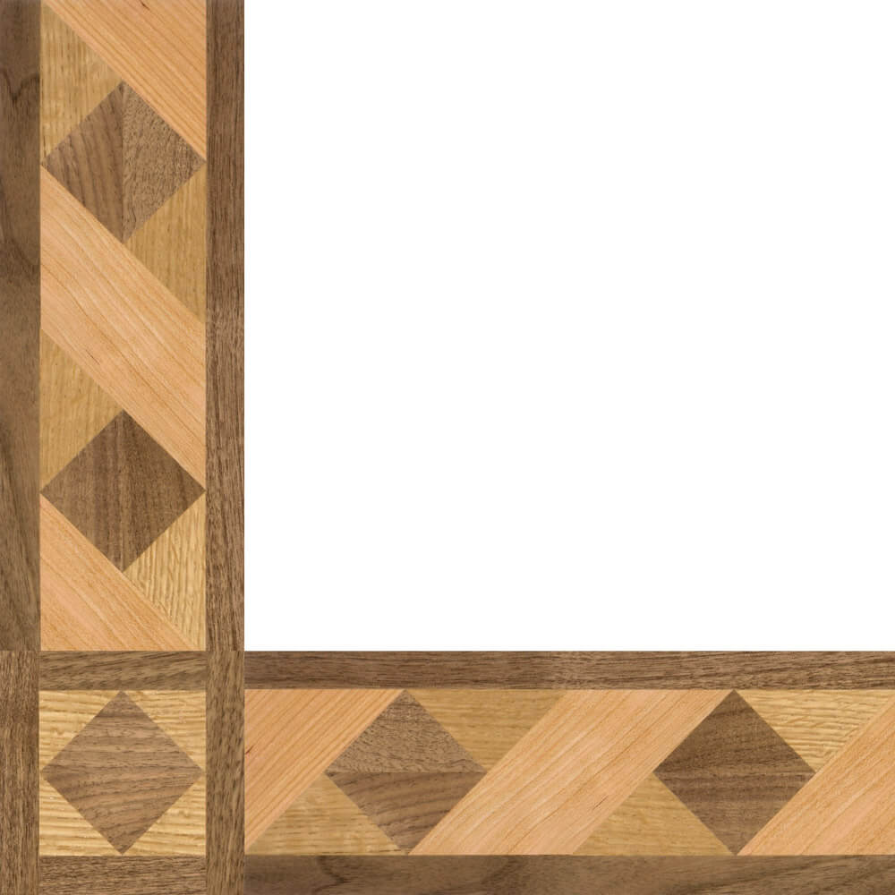 Brenton Cove Wood Border & Corner | Floor Border & Corner