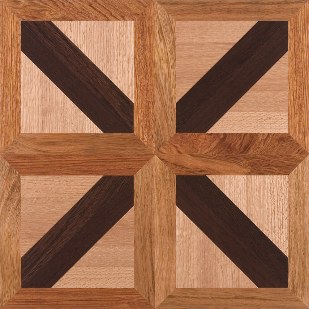 Brazilian Cherry, Red Oak, & Wenge Canterbury Parquet Tile | Parquet Flooring