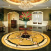 Cassina Limestone & Marble Medallion Room Scene | Floor Tile Medallion