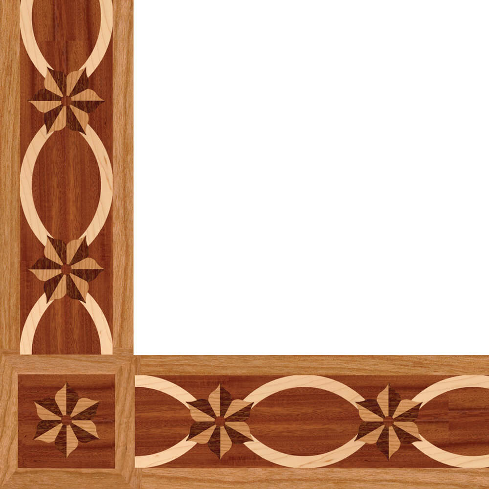 Charleston Wood Border & Corner | Floor Border & Corner