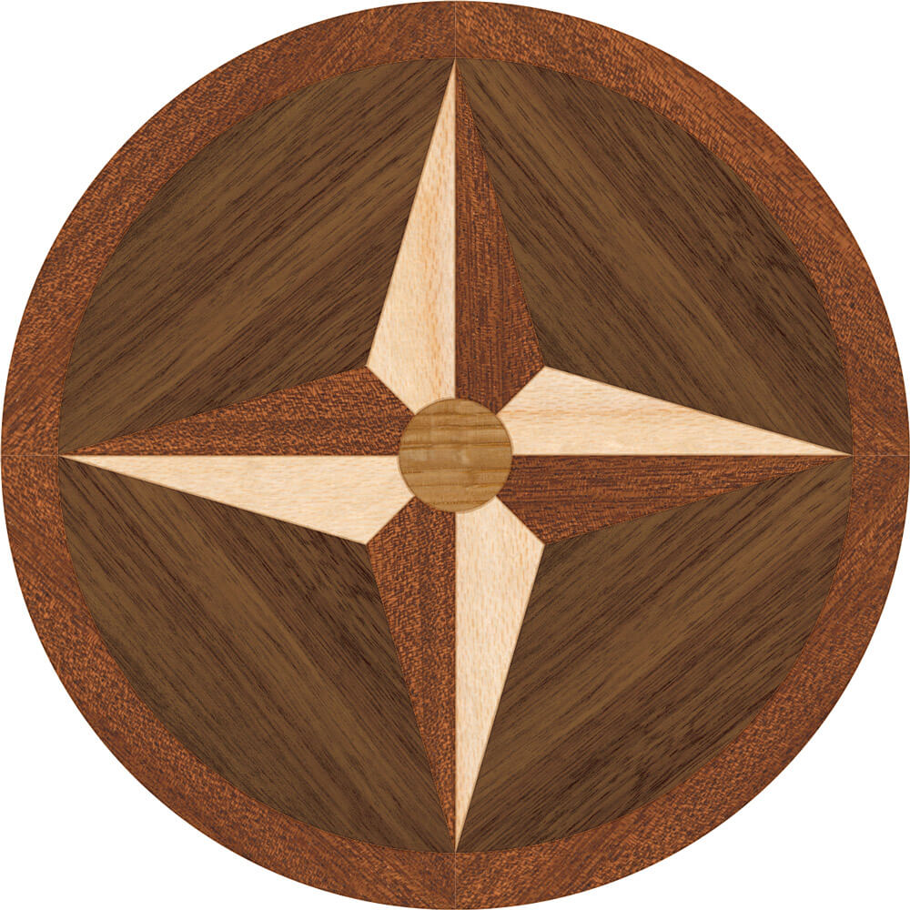 Chatham Wood Focal Accent Medallion