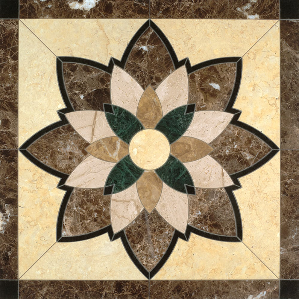 Empress Granite, Limestone & Marble Medallion | Floor Tile Medallion