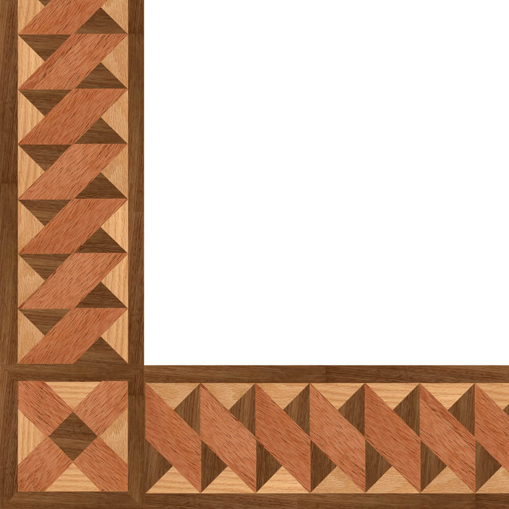 Kingscote Wood Border & Corner | Floor Border & Corner
