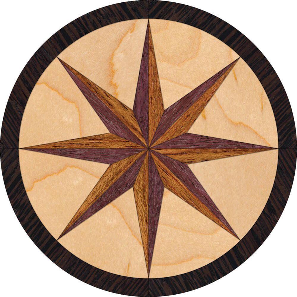 North Star Wood Medallion Focal Accent