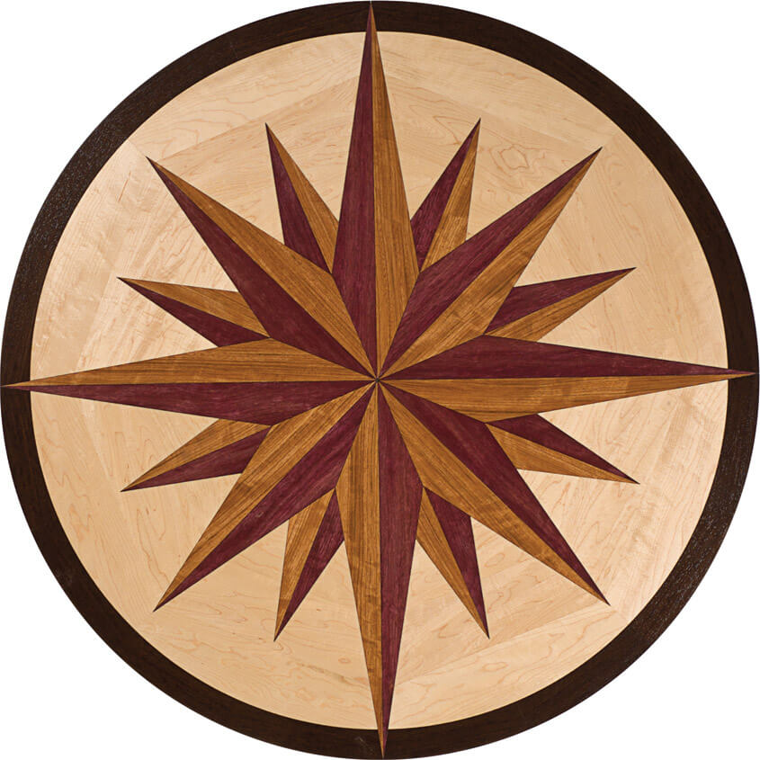 North Star Wood Medallion