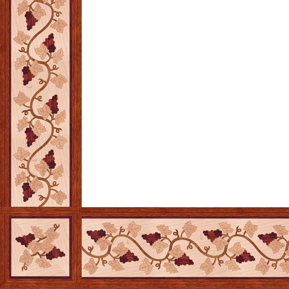 Shiraz Wood Border & Corner | Floor Border & Corner