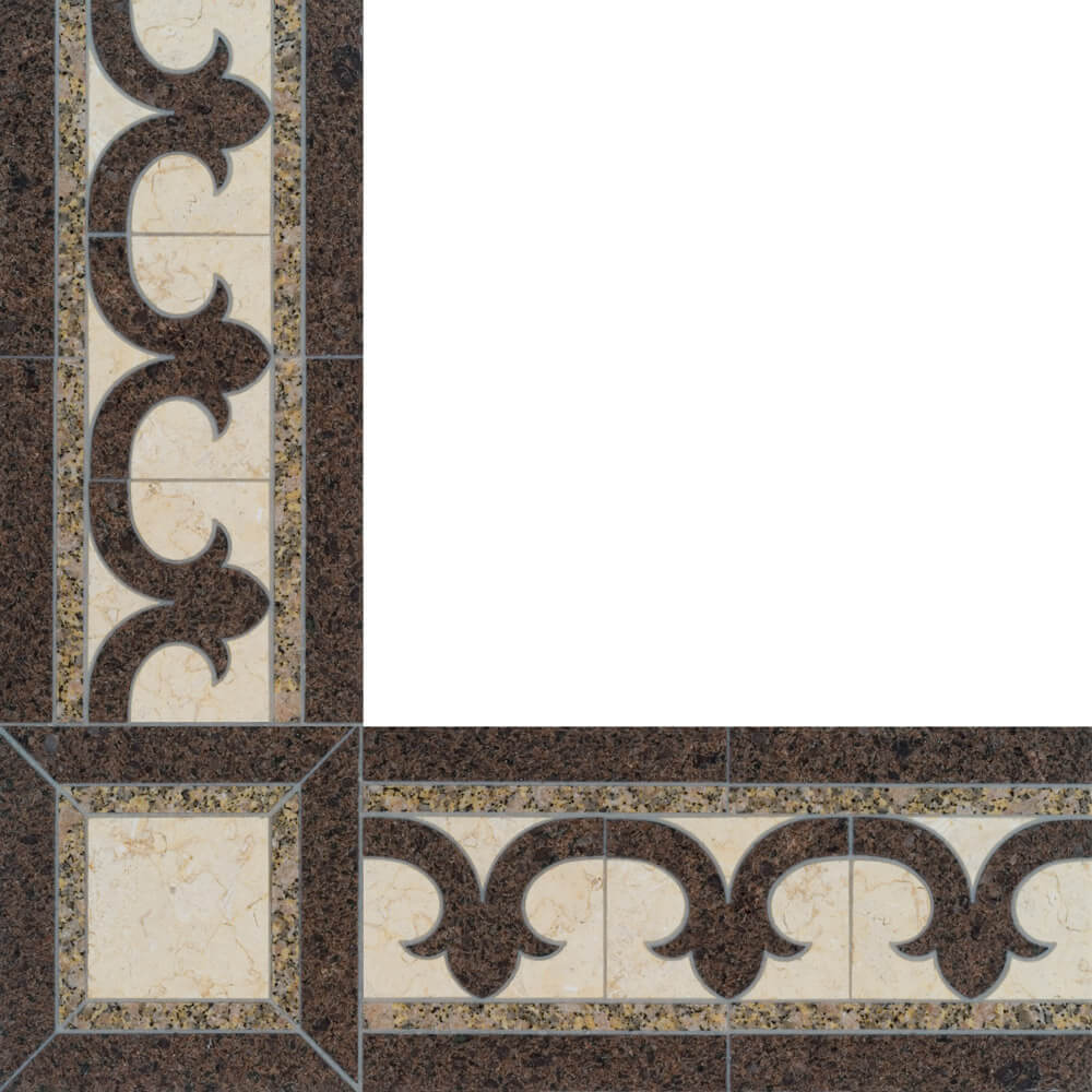 Grenadier Stone Floor Border
