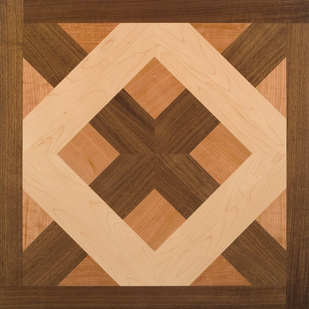 American Cherry, Maple, & Walnut Chateau Wood Parquet Tile | Parquet Flooring
