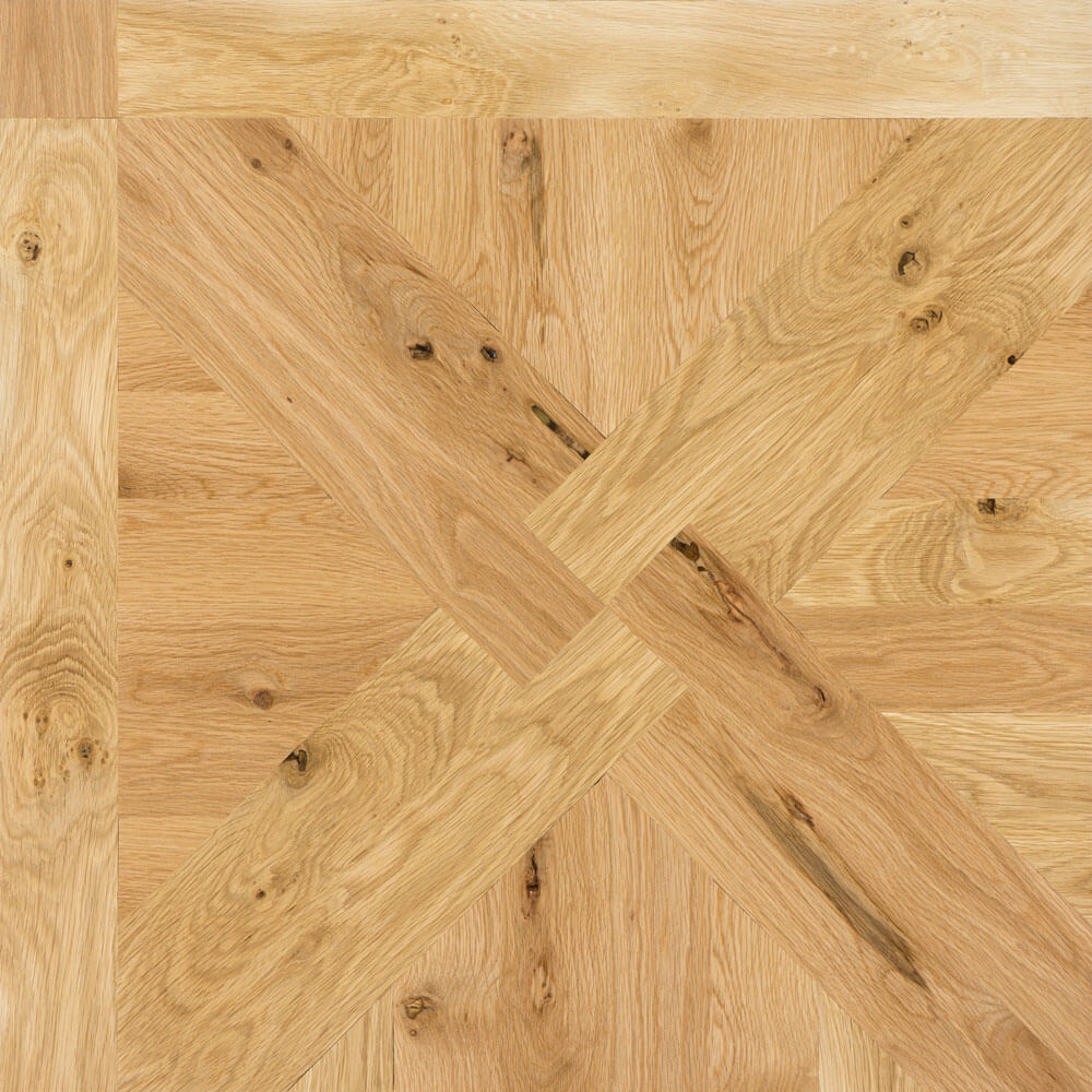 Rustic White Oak St. Mortiz Wood Parquet Tile | Parquet Flooring
