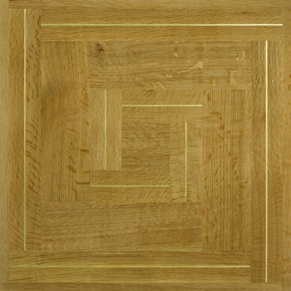 Luxe White Oak with Brass Wood Parquet