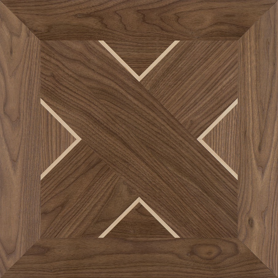 Walnut with Maple Townsend Wood Parquet Tile